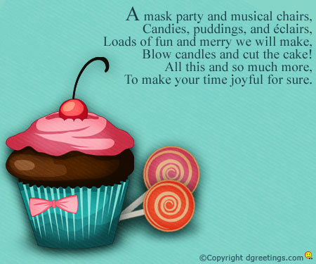 3rd birthday party invitation quotes ; joyful-for-sure