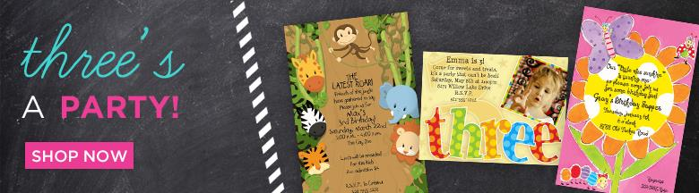 3rd birthday party invitation quotes ; kids-3rd-birthday