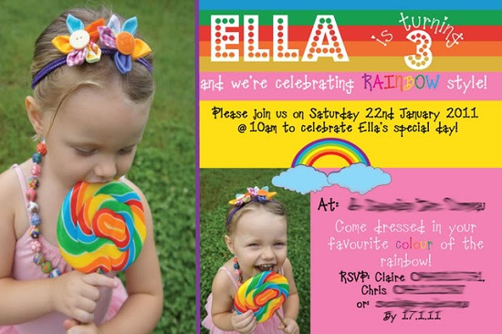 3rd birthday party invitation quotes ; rainbow-3rd-birthday-party-invitations