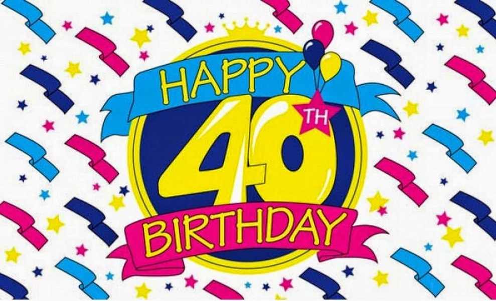 40th birthday clipart images pictures ; 1111774