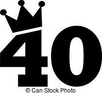 40th birthday clipart images pictures ; 40th-birthday-number-crown-image_csp43552473