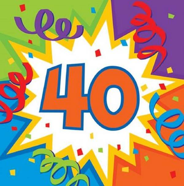 40th birthday clipart images pictures ; 76985