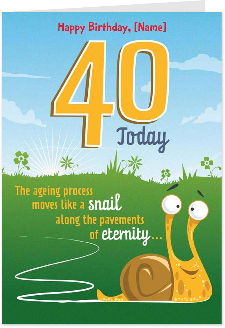 40th birthday greeting card messages ; 0