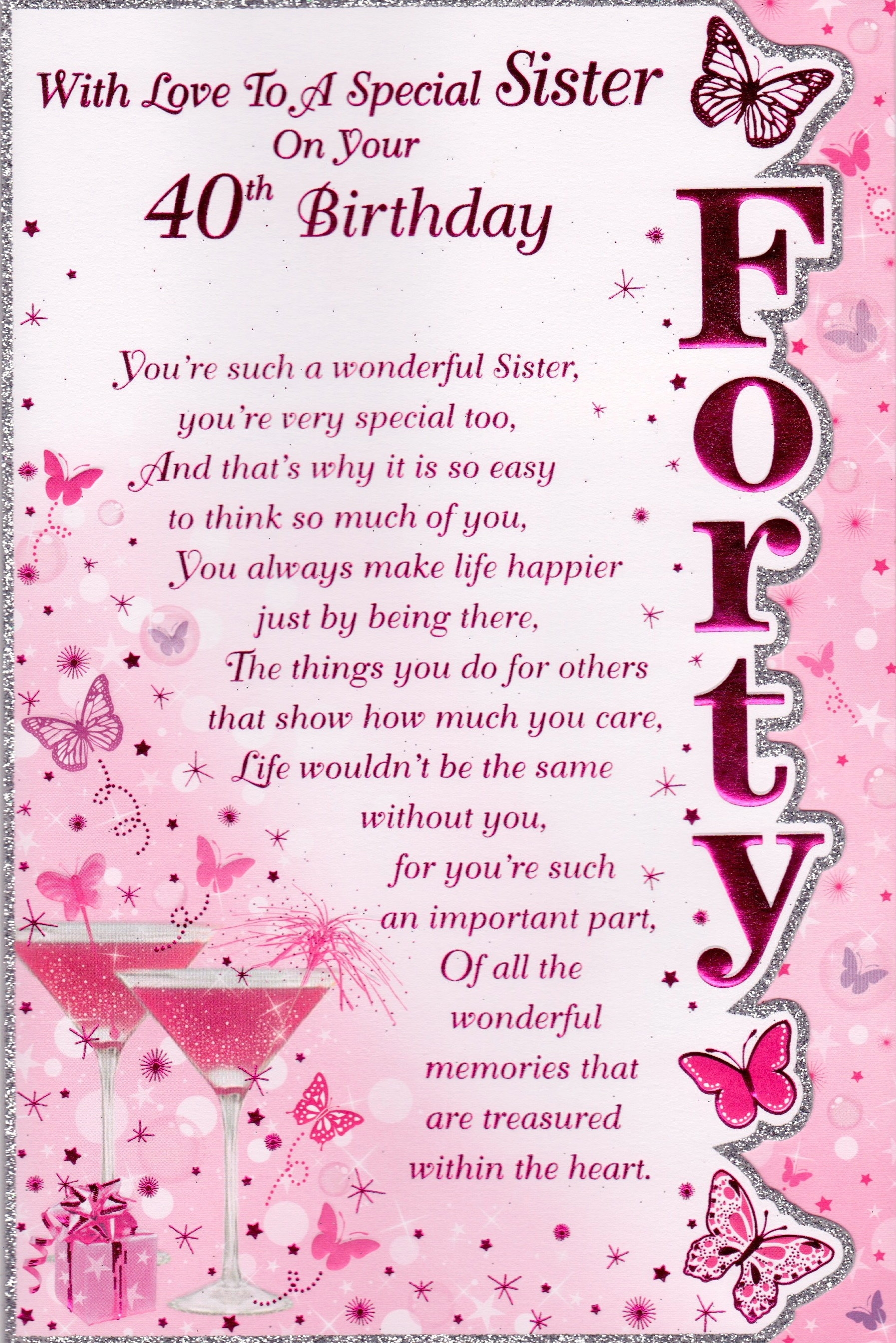 40th birthday greeting card messages ; 8290e09f13783c243487ca382c315d11