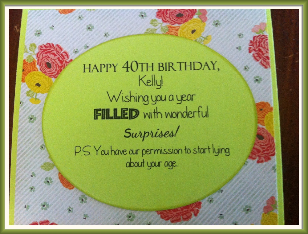 40th birthday greeting card messages ; Frame_IMG_4058