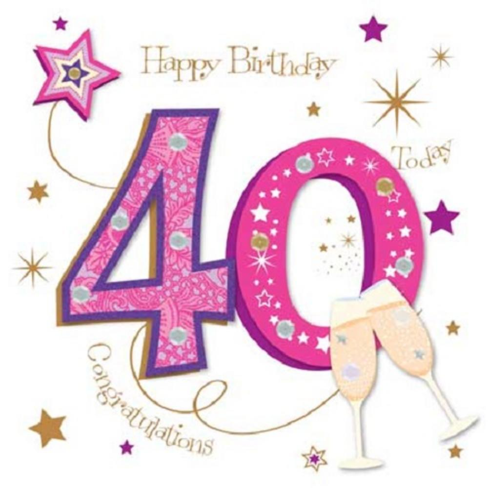 40th birthday greeting card messages ; lrgscaleMWER0012_40
