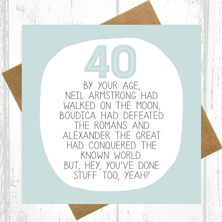 40th birthday greeting card messages ; original_by-your-age-40th-birthday-card