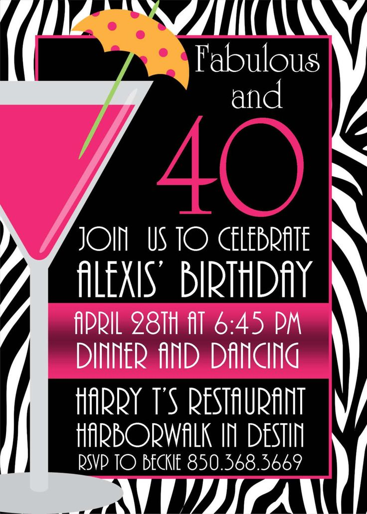 40th birthday invitation templates free printable ; Comely-40Th-Birthday-Party-Invitations-As-An-Extra-Ideas-About-Free-Printable-Birthday-Invitations