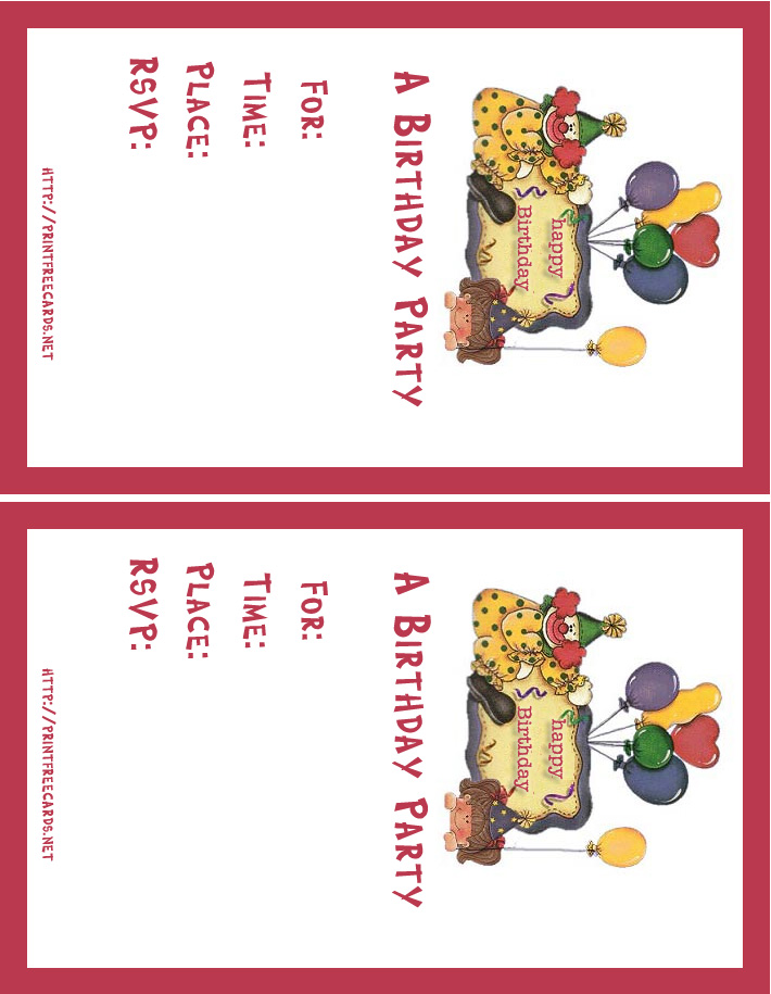 40th birthday invitation templates free printable ; birthdayinvitation1