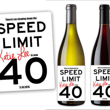40th birthday labels ; adult-birthday-champagne-label-party-from-partyprintexpress-on-40th-birthday-labels