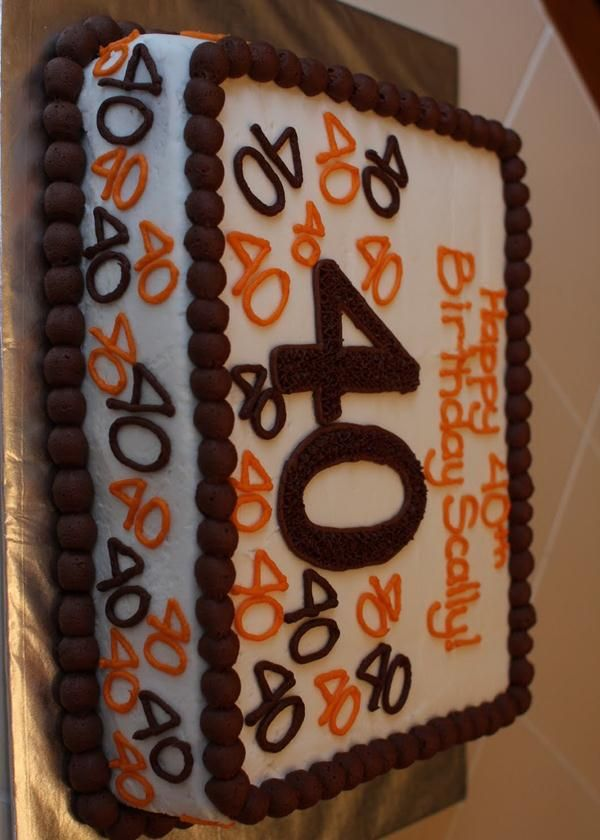40th birthday sheet cake ; 08bd1de3b997bf32fd7cde17bf23fee1