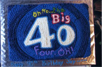40th birthday sheet cake ; 40th-birthday-cakes