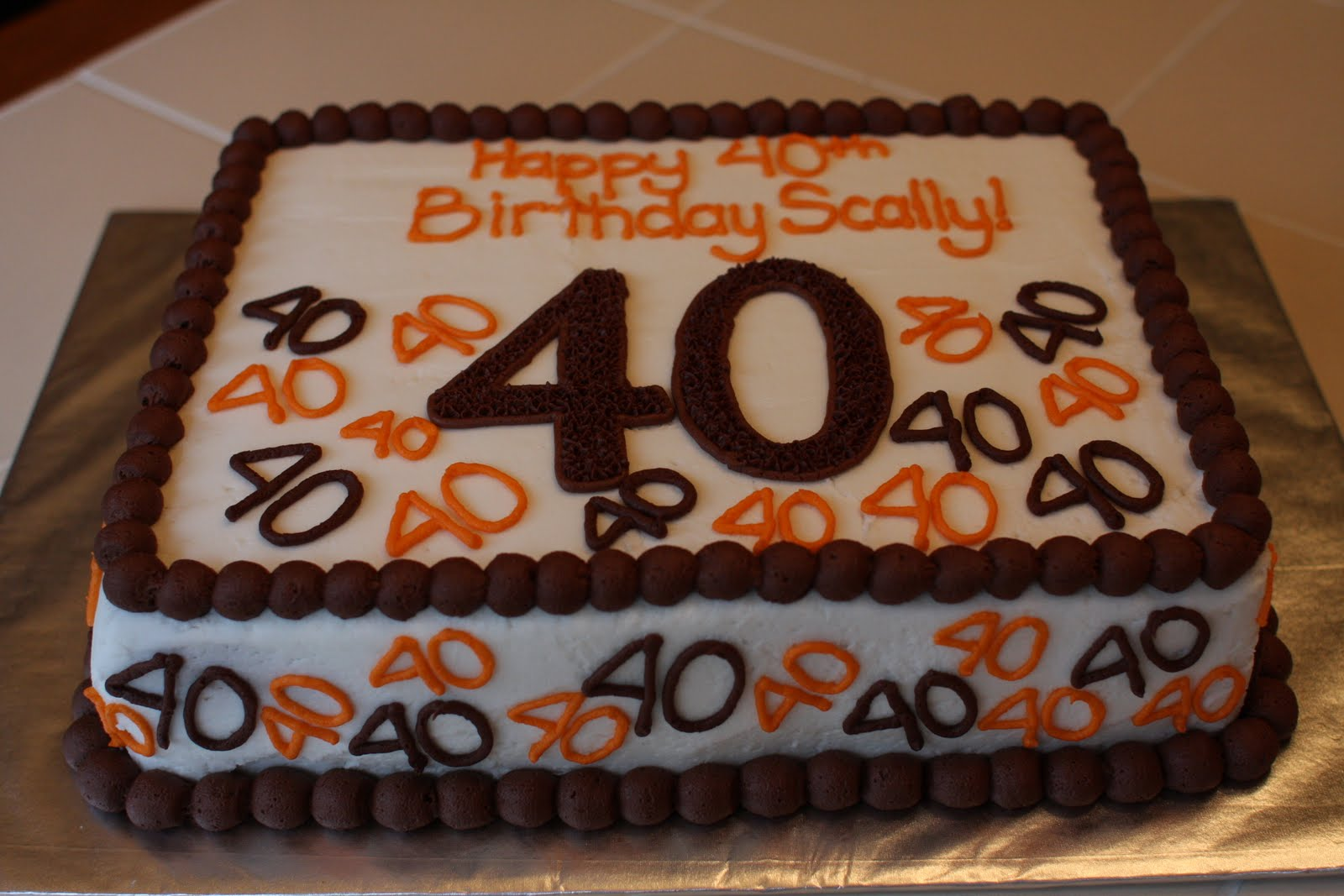 40th birthday sheet cake ; a90028f8419be0ca50baef25711630bc