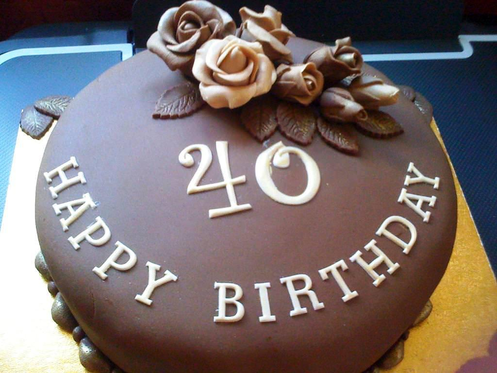 40th birthday sheet cake ; chocolate-40th-birthday-cake-ideas-10