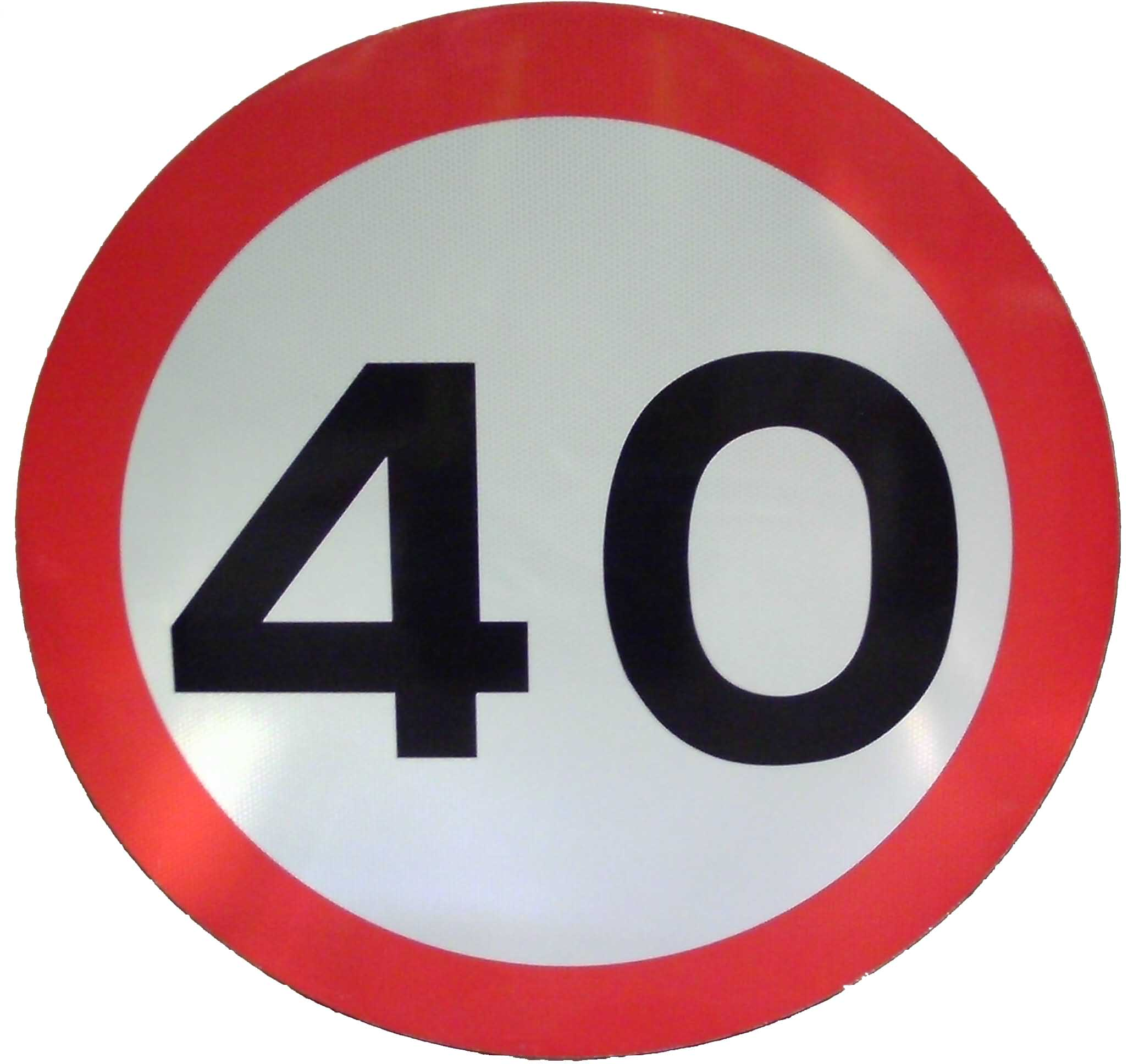40th birthday signs ; 40mph-sign