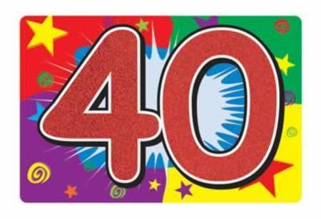 40th birthday signs ; eui3s6v20