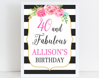 40th birthday signs ; il_340x270