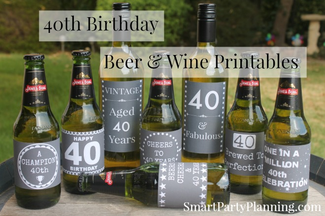 40th birthday wine label ideas ; 3478fbbd30e3f25e9620e5f9934e480f
