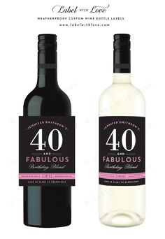 40th birthday wine label ideas ; 3610f28716931052287ebfb7171d6fa4--printable-labels-free-printables
