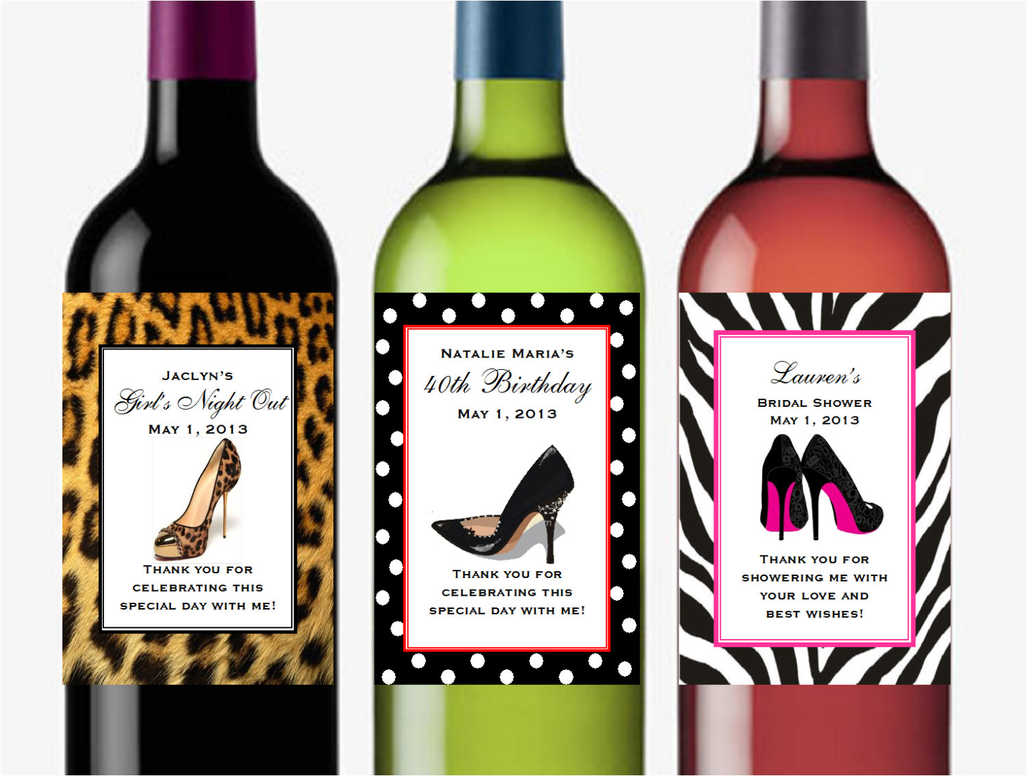 40th birthday wine label ideas ; 5