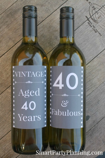 40th birthday wine label ideas ; b8e15caec34af2e94fb4b2013b252334
