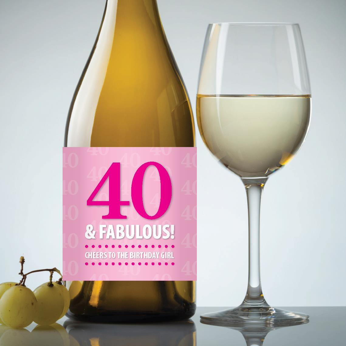40th birthday wine labels ; Birthday_40-Fabulous_Staged-Image_Pink