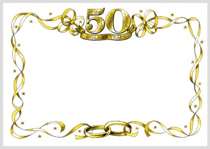 50th birthday border ; 1720739