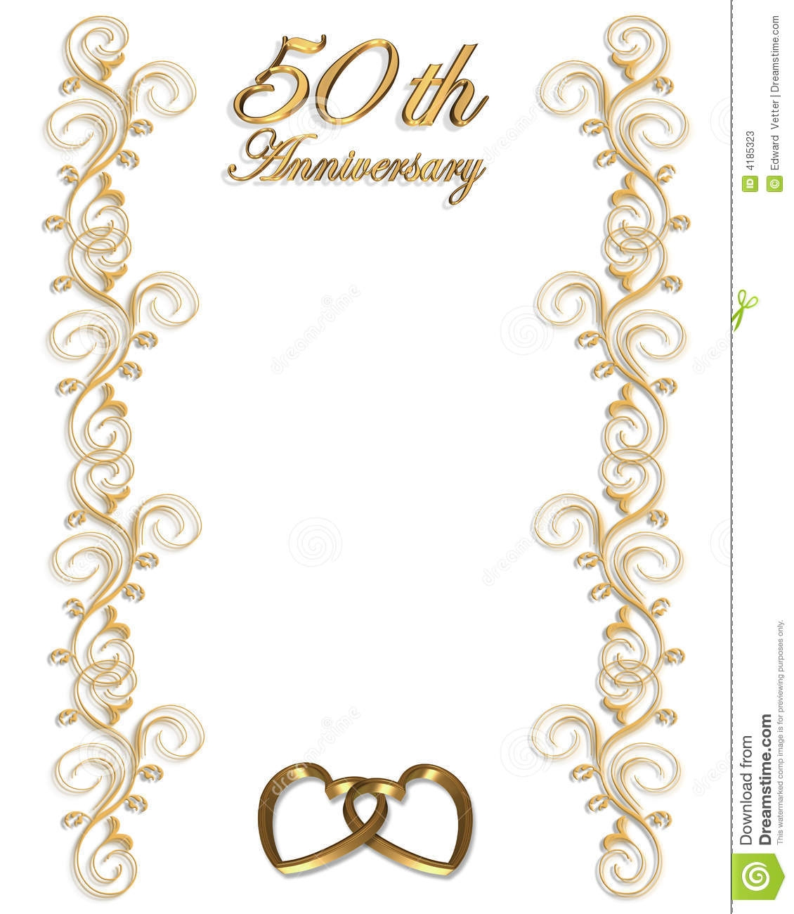 50th birthday border ; 50th-anniversary-border-clipart-1