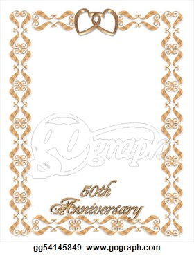 50th birthday border ; 50th-anniversary-invitation-clipart-14