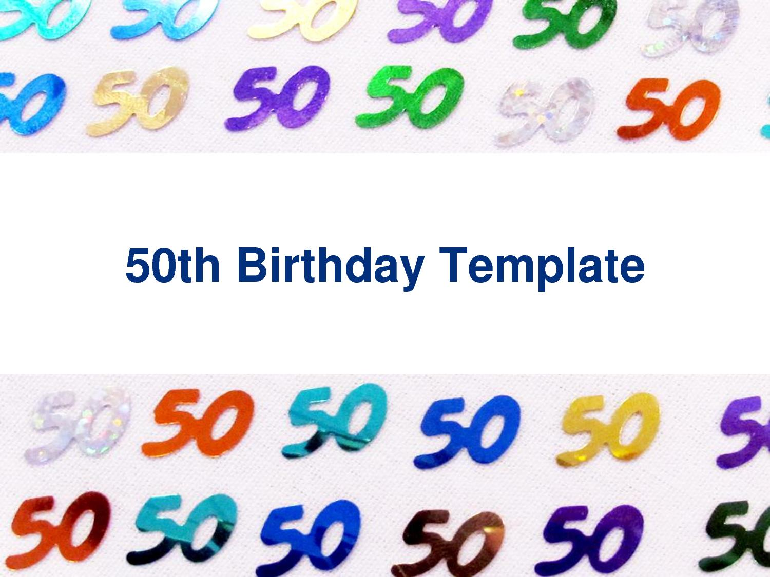 50th birthday border ; 50th-birthday-invites-template-ohdwuceo