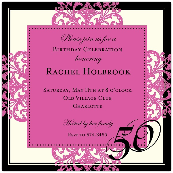 50th birthday border ; Decorative-Square-Border-Pink-50th-Birthday-Invitations-p-603-55-673-50-z