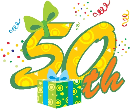 50th birthday border ; clipart-50th-birthday-19