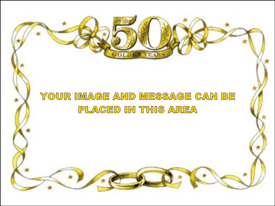50th birthday border ; wedding-clipart-gold-1