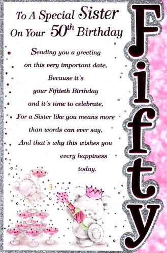 50th birthday card wishes ; large_353_Specil_sister_50th