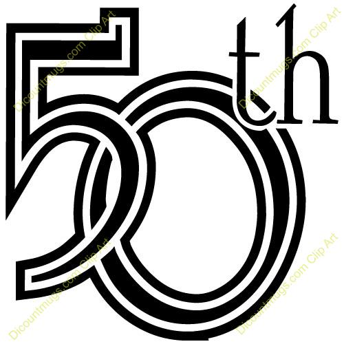 50th birthday clipart funny ; 50th-clipart-1