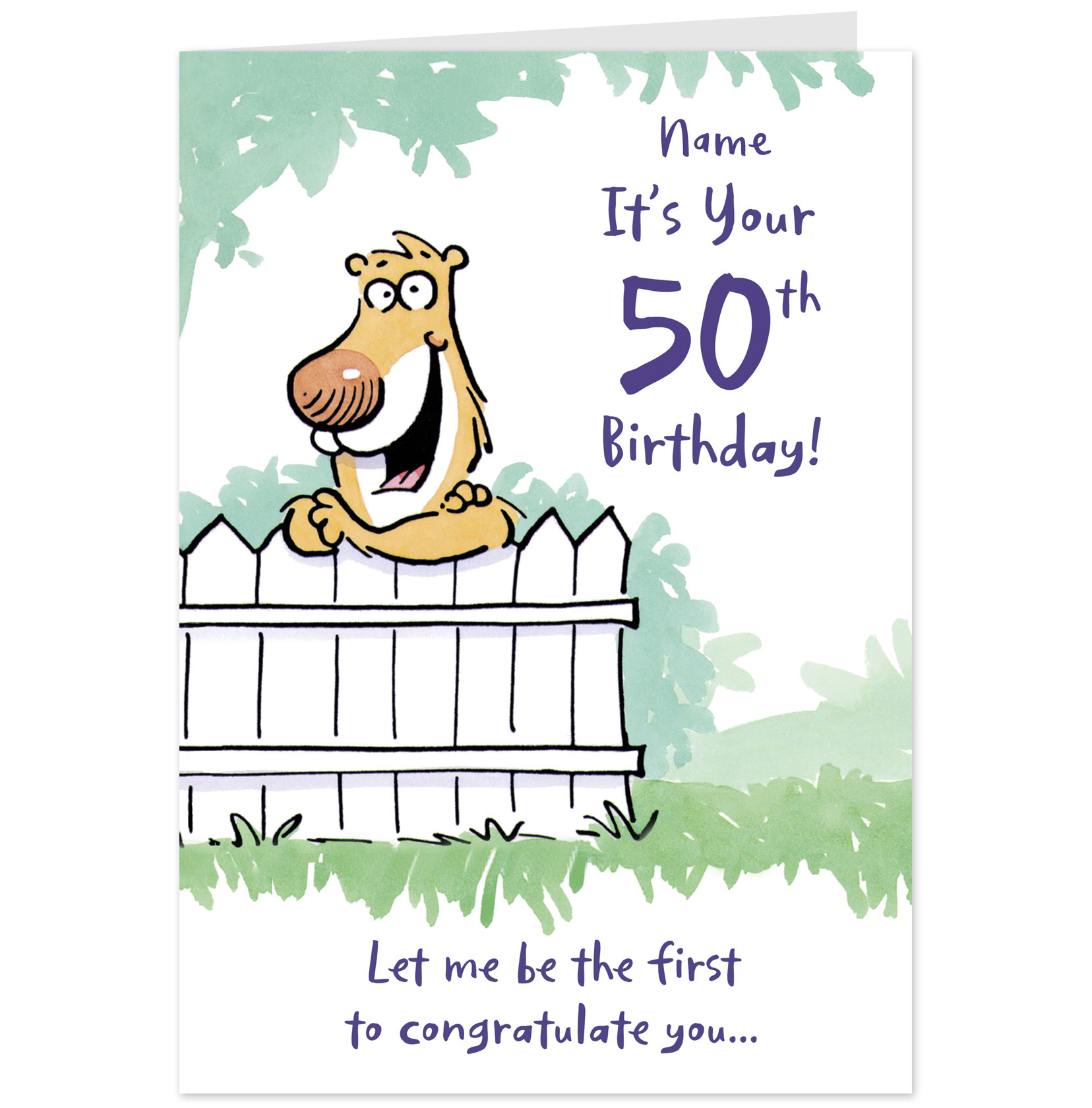 50th birthday greeting card messages ; 10689420