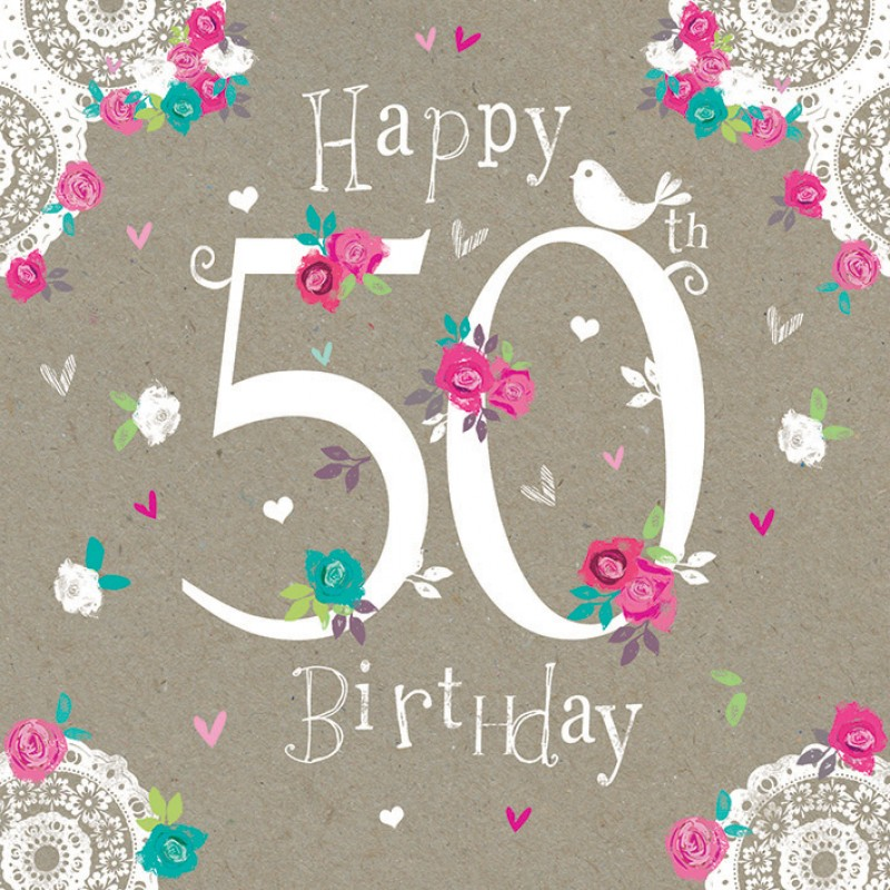 50th birthday greeting card messages ; Happy-50th-birthday-Wishes-1