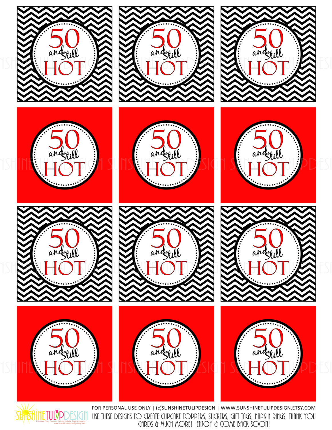 50th birthday party labels ; 6cf631cf5d6ee164fd55702feed705f3