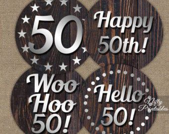 50th birthday party labels ; il_340x270