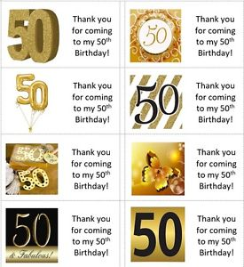 50th birthday party labels ; s-l300