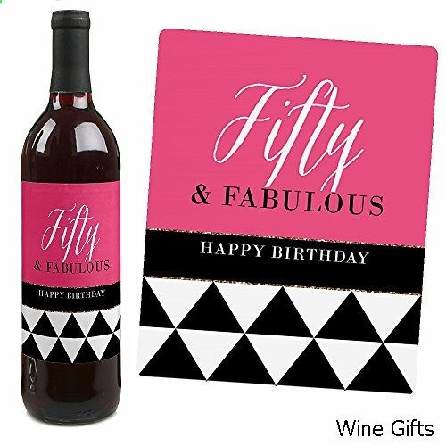 50th birthday wine bottle labels ; 0f27a0a5dcb412a859be657b869ece6c