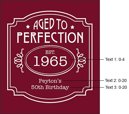 50th birthday wine bottle labels ; 134617-0