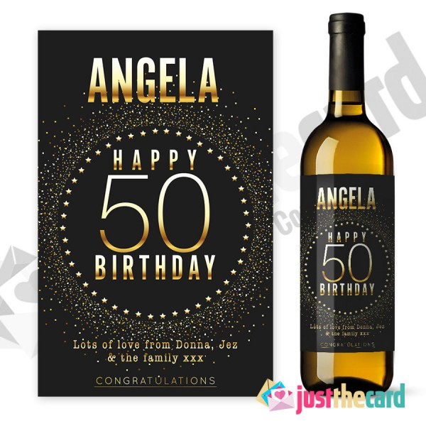 50th birthday wine bottle labels ; 590593299bd0d$_57-600x600