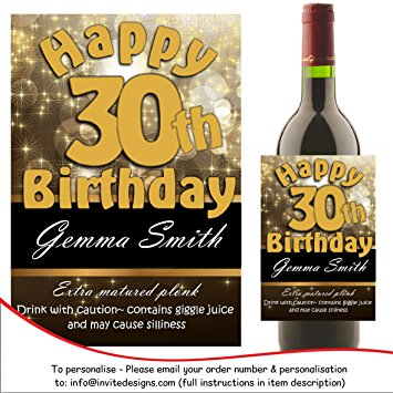 50th birthday wine bottle labels ; 91oo7NM6-QL