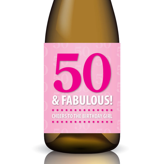 50th birthday wine labels ; 269ac82766ab36f890cdb23ccedde57e