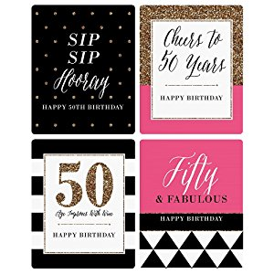 50th birthday wine labels ; dTmfiPpTWqQ