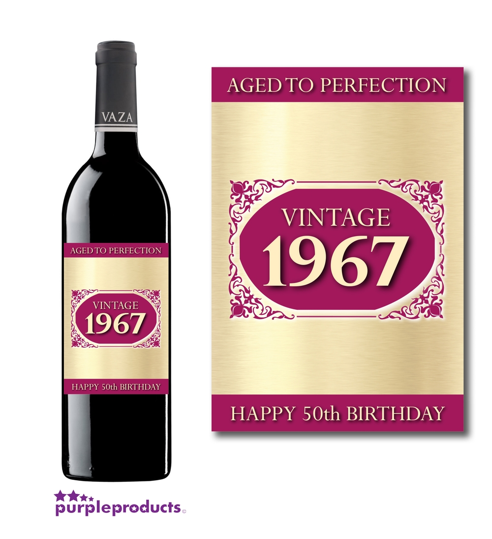 50th birthday wine labels ; f23606207d01873267f5f37d1df82698