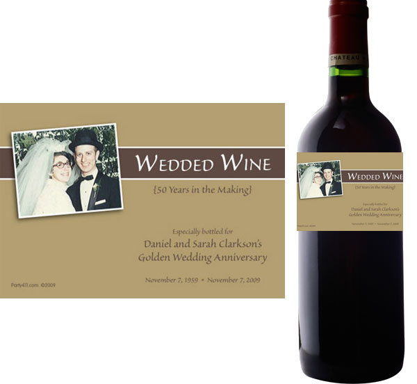 50th birthday wine labels ; label-wine-anniversary50