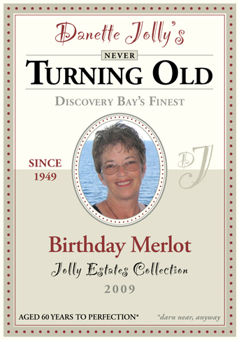 50th birthday wine labels ; th-birthday
