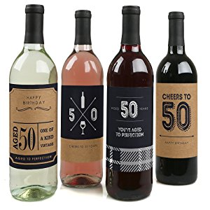 50th birthday wine labels ; vQBoPgtbR4z